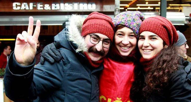 From left to right; Semih Özakça, Nuriye Gümen, Esra Özakça