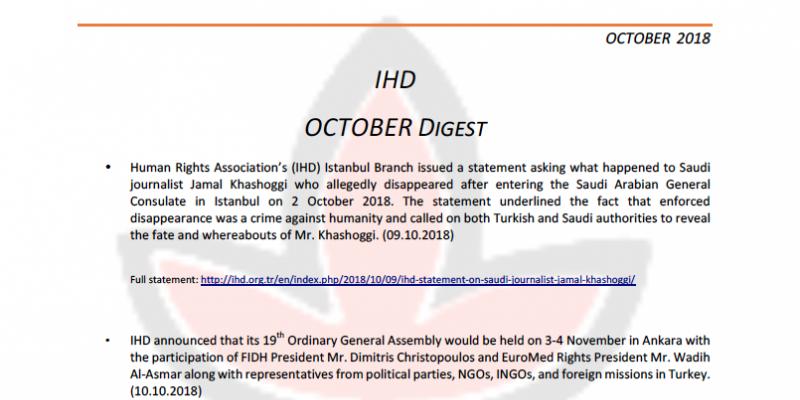 IHD October 2018 Digest